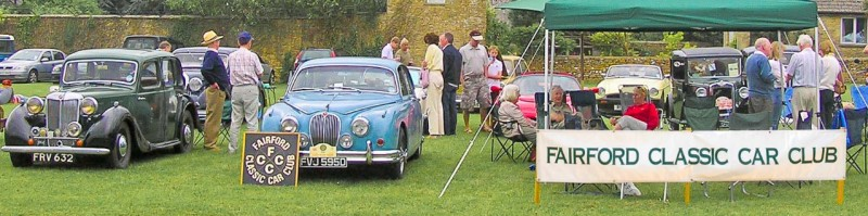 Fairford Classic Car Club featuring MG YA 1948 and a Jag Mk2 1966