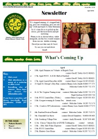 FCCC April 2016 Newsletter