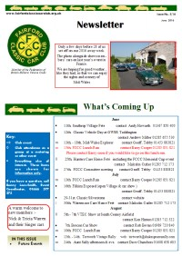 FCCC June 2016 Newsletter
