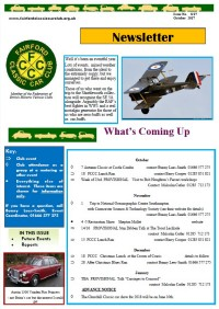 FCCC October 2017 Newsletter